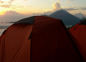 Sunset and Sunrise Camping at Mount Batur