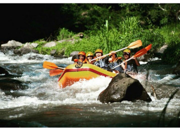 White Water Rafting Adventure at Ayung River Ubud Bali