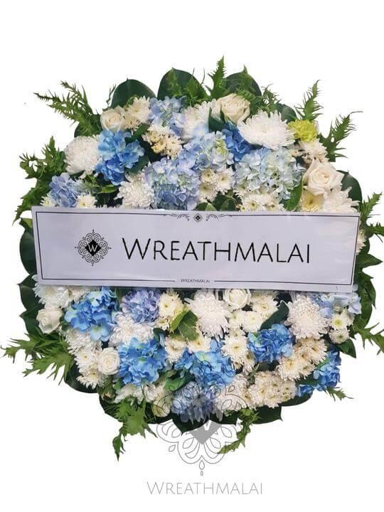 WF038 พวงหรีดดอกไม้สด  Size M