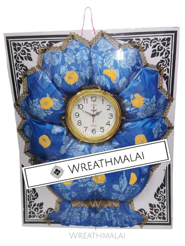 WF074 พวงหรีดผ้าห่มและนาฬิกา
