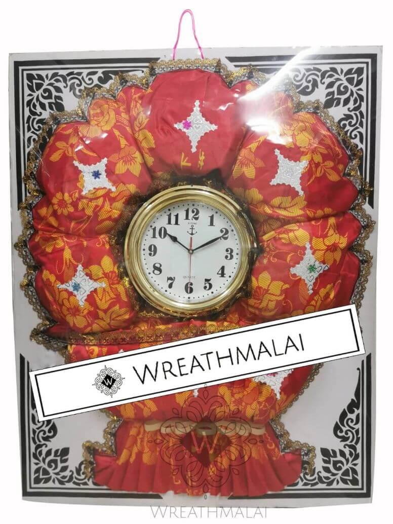 WF075 พวงหรีดผ้าห่มและนาฬิกา