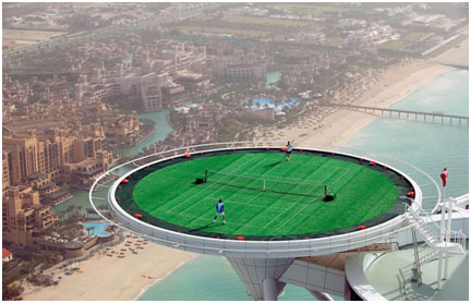 Tennis Court at Burj Al Arab