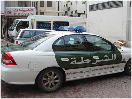 Police car in Dubai