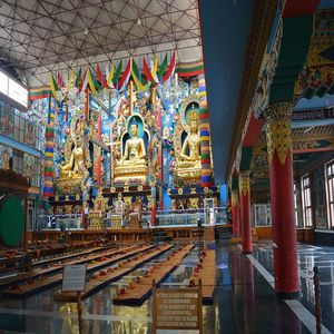 package itinerary15902546992113BEAUTIFUL INSIDE VIEW OF TIBETAN GOLDEN TEMPLE AT COORG