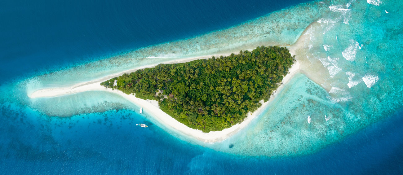Stay on a private island