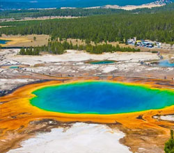 Visit the famous Yellowstone National Park