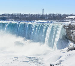 Feel the cold mists of Niagara Falls