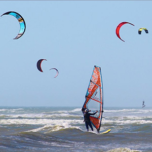 Kite Surfing at Kadamat Island