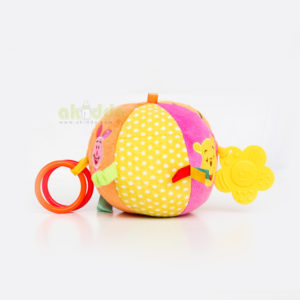 【Disney】Baby Plush Ball with Bell and Teether Rings
