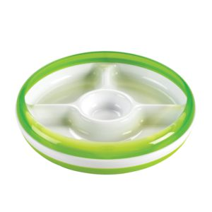 OXO Tot Divided Plate Green