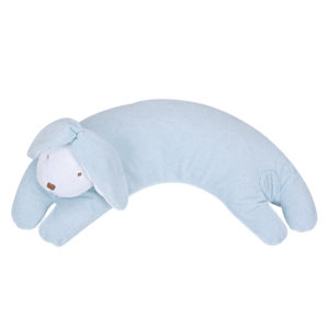 Angel Dear Curved Pillow - Blue Floppy Ear Bunny