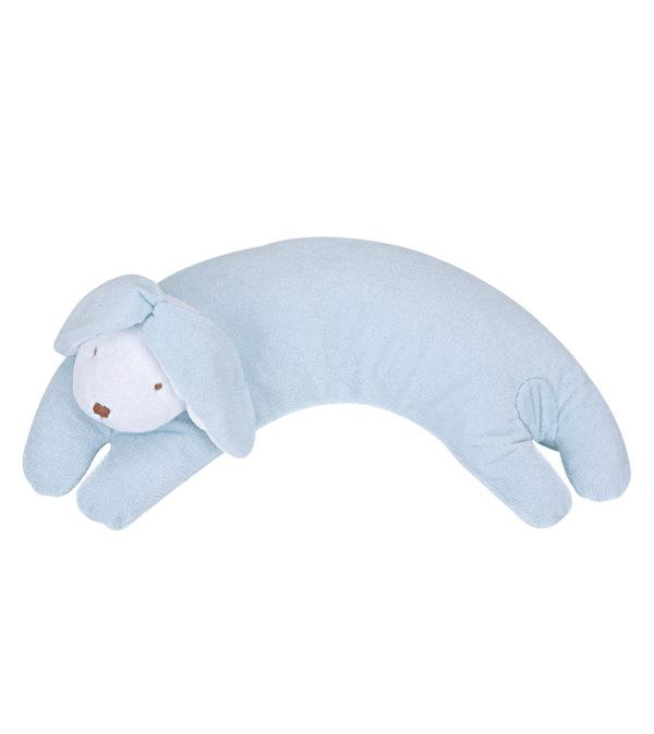 Angel Dear Curved Pillow - Blue Floppy Ear Bunny