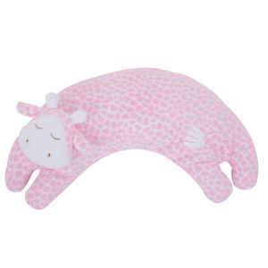 Angel Dear Curved Pillow Pink Giraffe