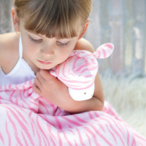 Angel Dear Napping Blanket Pink Zebra