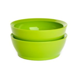Calibowl 28oz Non-Spill Bowl, Set of 2 – Red