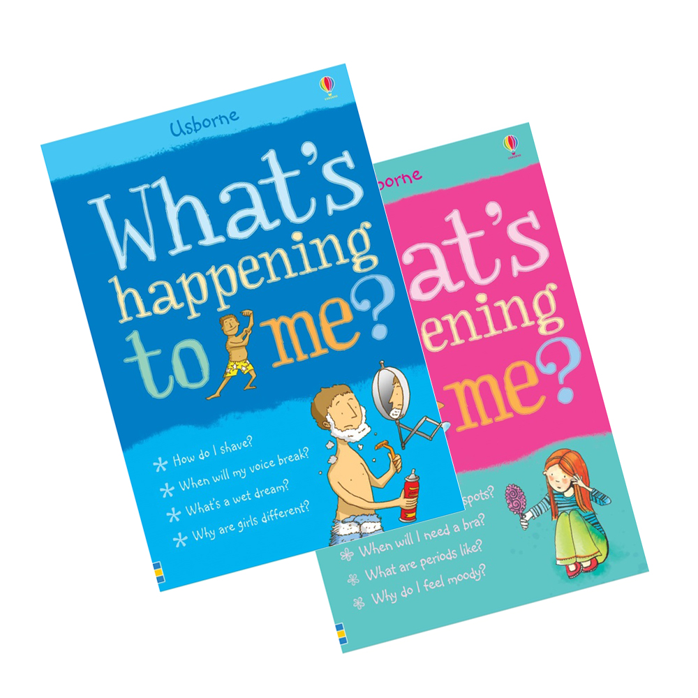 ec7e8187ce618 Usborne What's Happening to Me? (Boys + Girls Edition Bundle) | akiddo