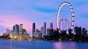 singapore flyer dari jauh