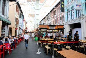 Food Street Chinatown Singapura