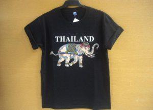Kaos_Thailand_Gajah_Kartun_Hitam