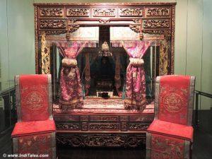 kasur pengantin di museum peranakan