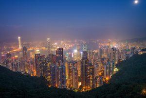 pemandangan malam dari victoria peak