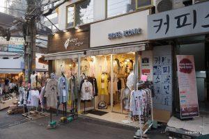shinchon fashion street