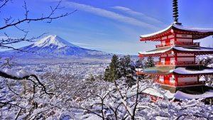 Pemandangan Winter di Jepang