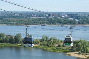 Kereta gantung di Nizhy Novgorod