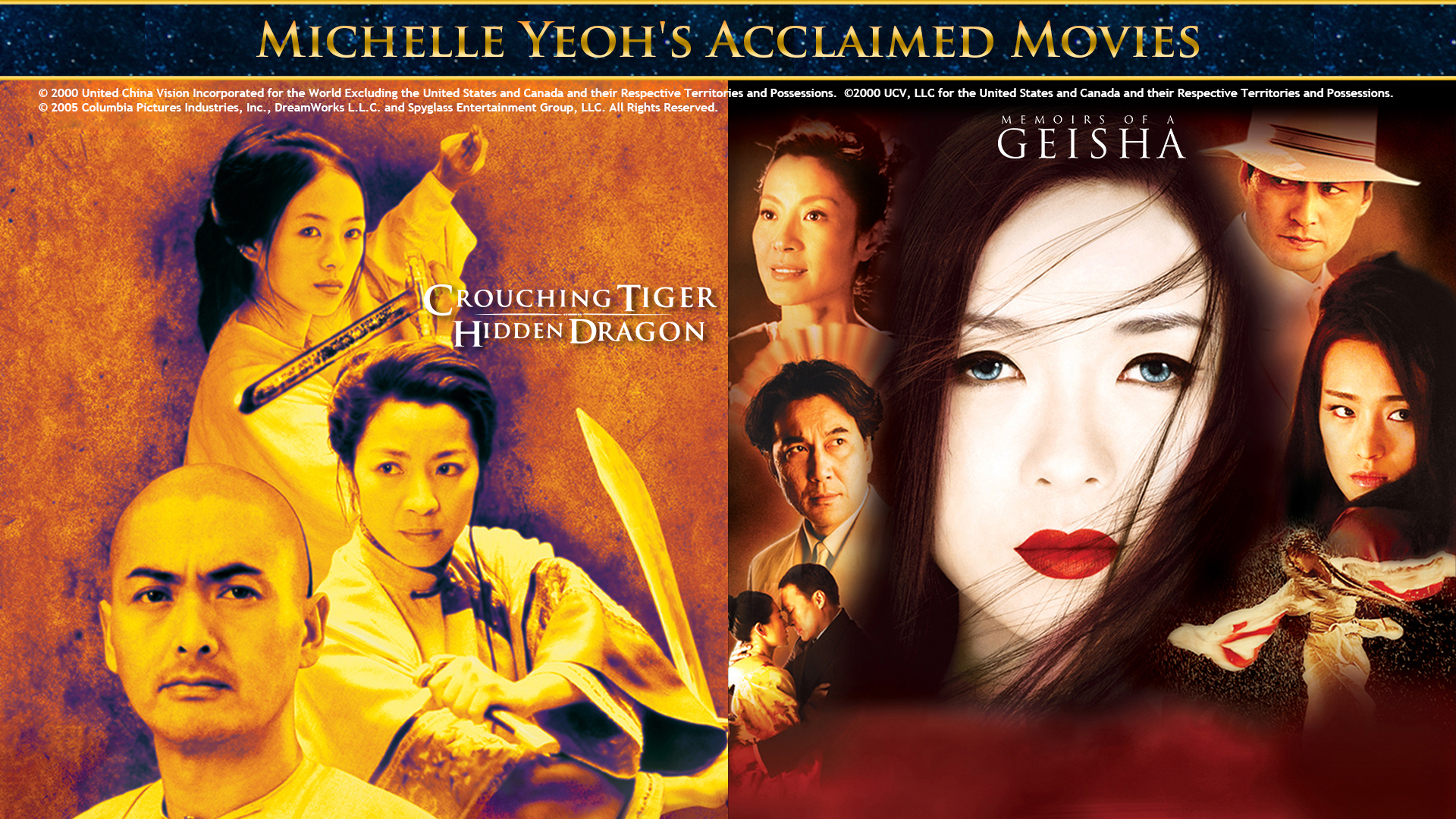 MICHELLE YEOH'S ACCLAIMED MOVIES