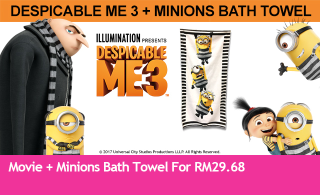DESPICABLE ME 3 + TOWEL