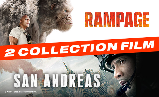RAMPAGE & SAN ANDREAS 2-MOVIE COLLECTION