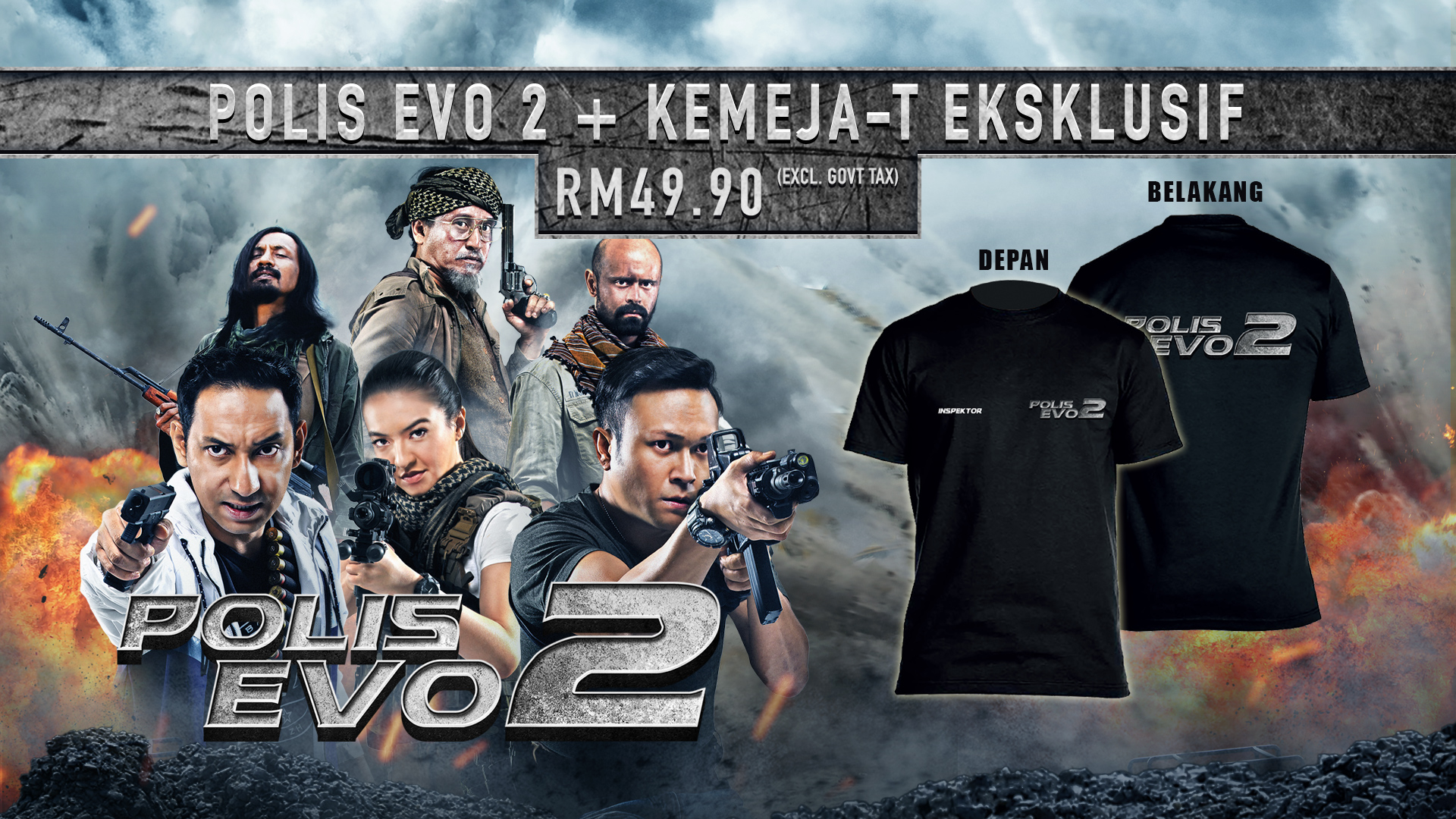 POLIS EVO 2 + EXCLUSIVE T-SHIRT