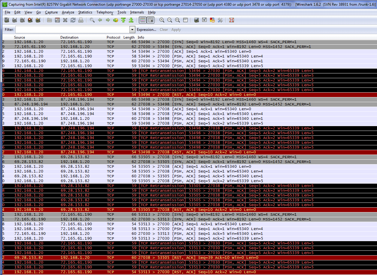 Steam client difficulty connecting behind pfSense 2 0