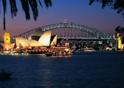Opera House & Harbour Bridge Night View