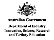 Australian Government, Department of Industry, Innovation, Science, Research & Tertiary Ed