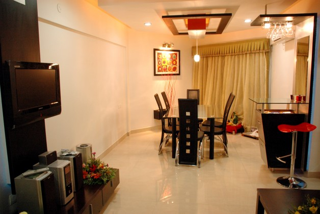 2 bhk fully furnished asthetically interior designed for 1 bhk flat interior decoration image