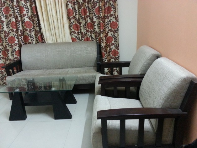 Moving out Sale- Sofa Set 3+1+1 with Center Table ...