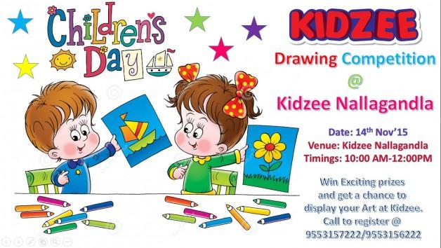 Drawing Competition on Children's Day @ Kidzee Nallagandla ...
