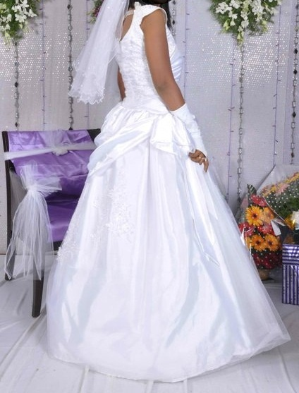 White Christian Wedding Gown For Sale | ApnaComplex Classifieds
