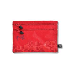 港鐵旅遊精品 <BR>中型雙拉鏈袋-紅色(中環版)