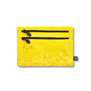 港鐵旅遊精品 <BR>中型雙拉鏈袋-黃色(尖沙咀版)