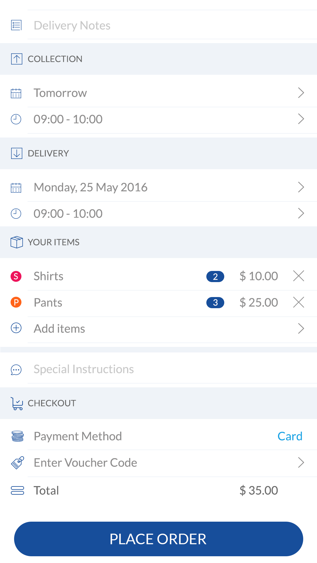 Laundra - Washio Clone to start your own on-demand laundry app