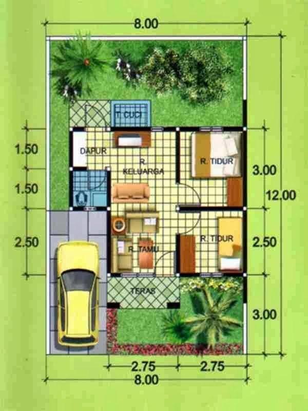 Desain Rumah Minimalis Ukuran 7x14  desain terbaru denah rumah minimalis sederhana untuk kamar