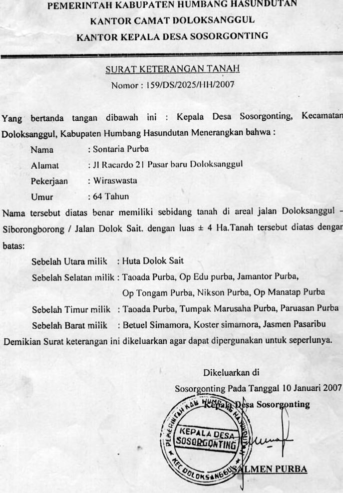 Contoh Surat Keterangan Beda Nama Ktp Dan Sertifikat ...
