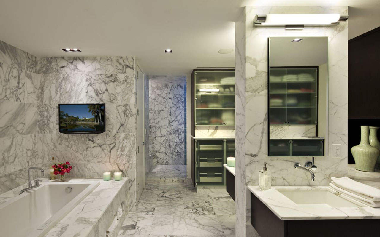Kamar mandi menggunakan batu marmer (Sumber: www.majalahbatu.com)