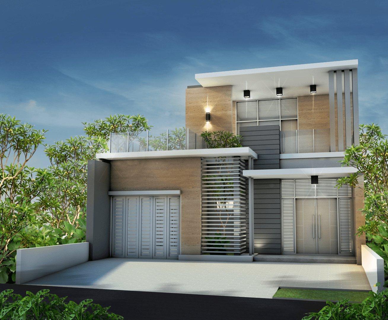 Model Desain Tampak Depan Rumah Minimalis 2 Lantai Yang