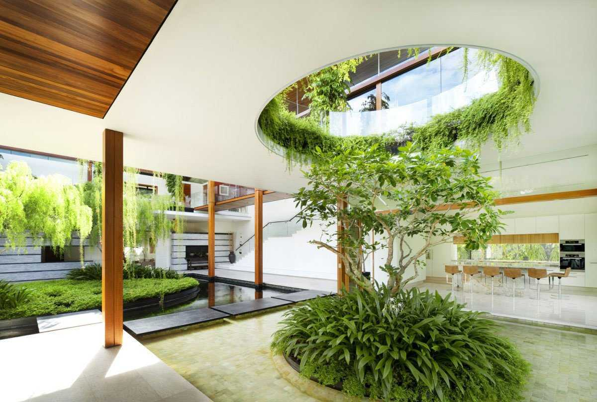 Pohon willow yang menghijaukan ruang karya Di Guz Architects (Sumber : pinterest.com)