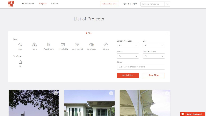 Menemukan profesional dan projek yang paling relevan menjadi jauh lebih mudah. Dengan filter terbaru kami, Anda bisa mencari profesional dan projek yang paling relevan dengan kebutuhan Anda. Anda dapat menentukan sendiri tipe projek, budget dan gaya pilihan Anda melalui filter ini.