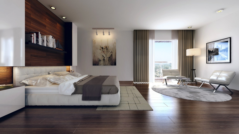 Ide desain interior kamar tidur modern (Sumber: home-designing.com)