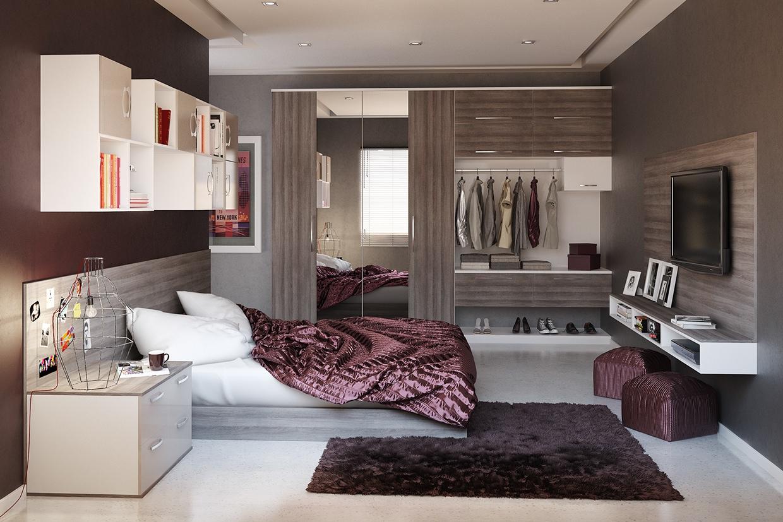 Ide desain kamar tidur modern (Sumber: home-designing.com)